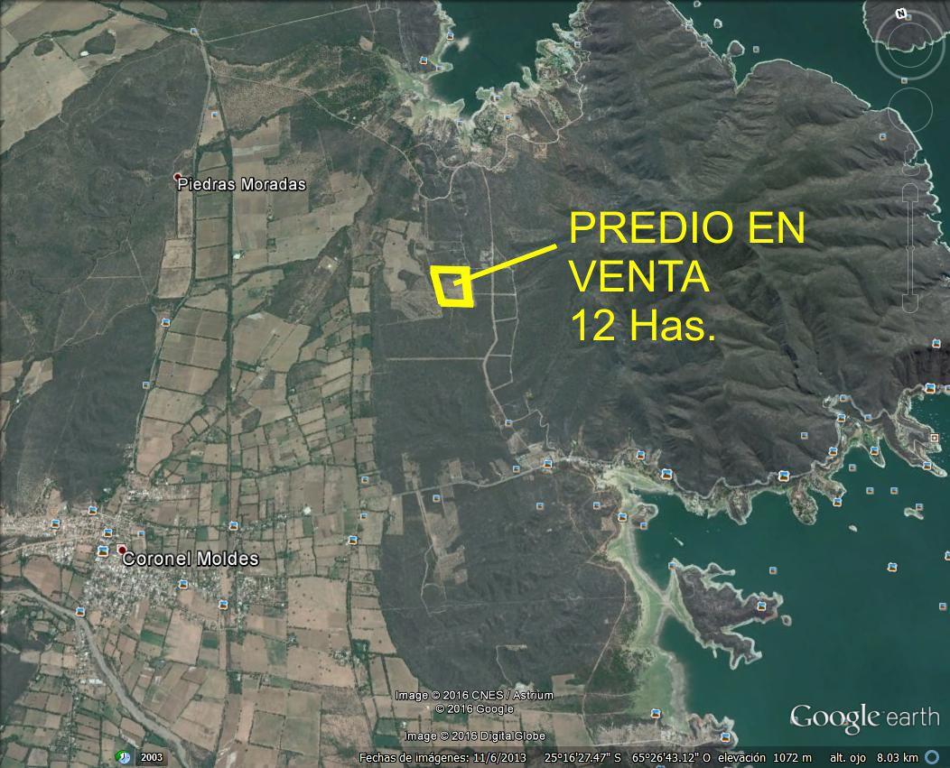 VENDO TERRENO ZONA DIQUE CABRA CORRAL 12 HAS. IDEAL EMPRENDIMIENTO MUY BUENA UBICACION