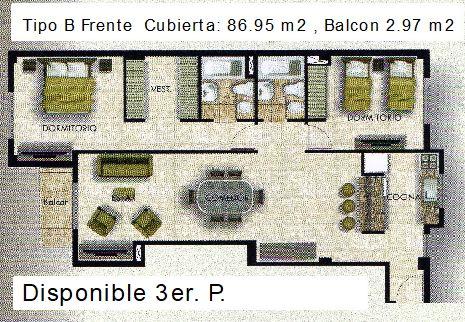 Tipo B frente 90 m2 con letras ult